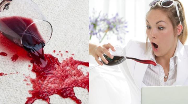 quitar manchas de vino de la ropa