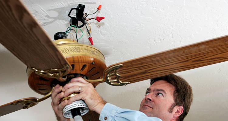 Instrucciones para instalar un ventilador de techo