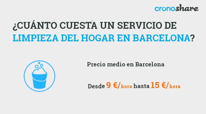cuanto cuesta servicio limpieza hogar barcelona