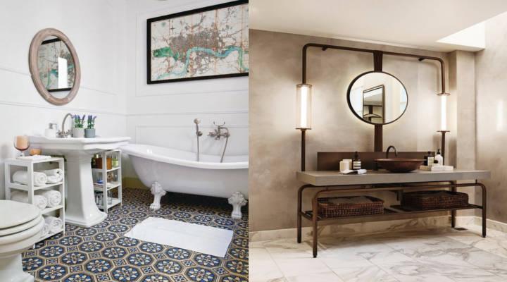 Ideas para reformar el baño - clásico e industrial