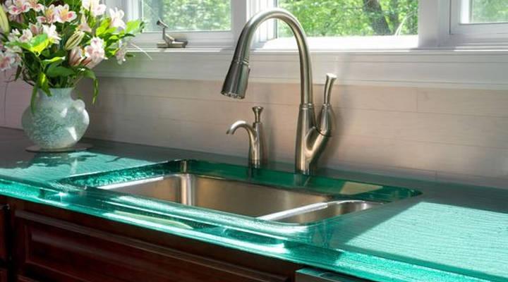 Cómo elegir encimeras de cocina - vidrio