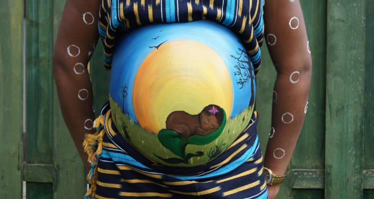 cuánto cuesta belly painting para embarazadas