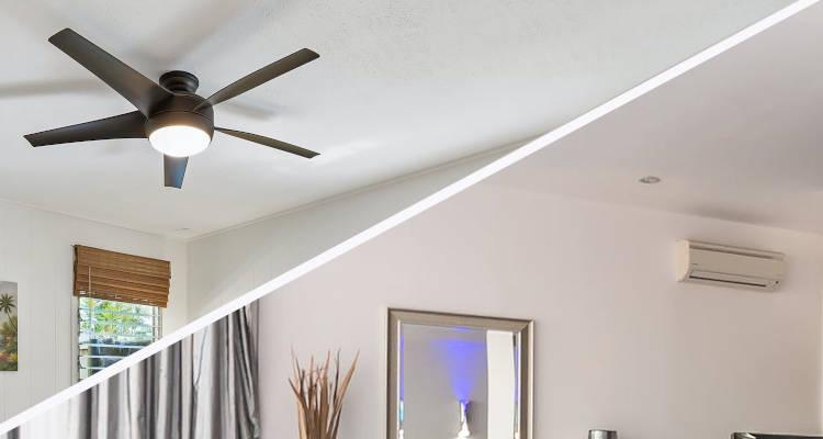 ¿Aire acondicionado o ventilador de techo: Qué elegir?