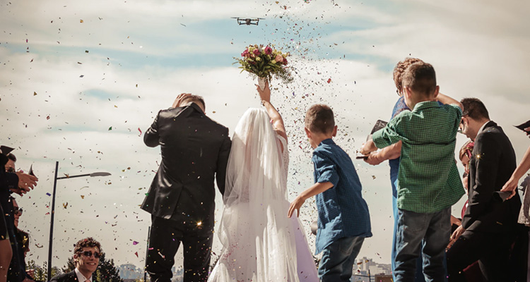 Precio reportaje boda con drone